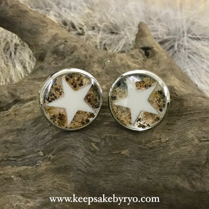 BREASTMILK STAR & CORD CUFFLINKS