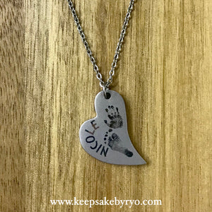 ENGRAVED BY RYO: CURVED HEART PENDANT