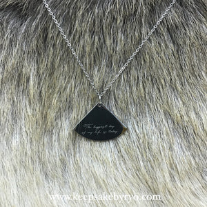 Engraved by Ryo: Ultrasound Necklace Pendant