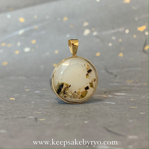 18K GOLD: TRIPLE INCLUSION PENDANT