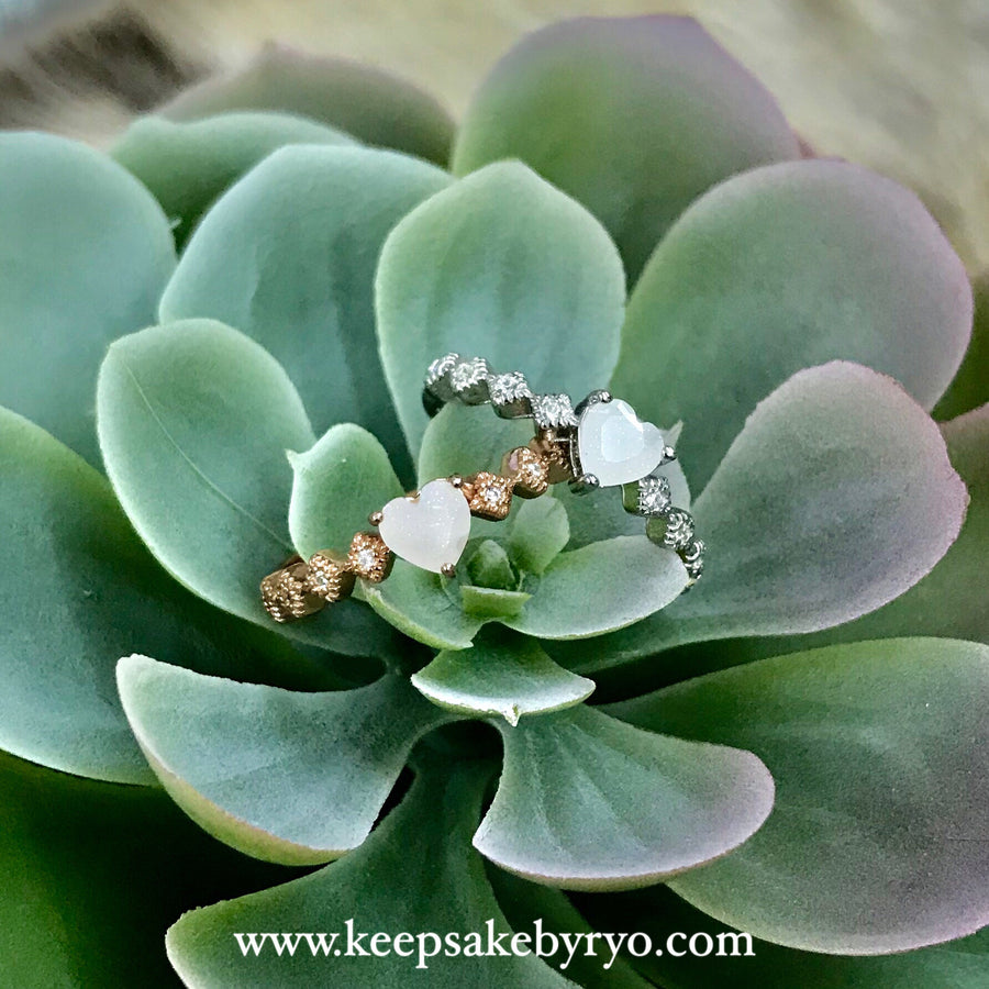 SOLITAIRE: ISLA DAINTY RING WITH HEART SHAPED STONE