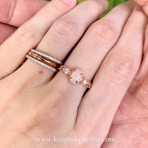 SOLITAIRE: CHLOE BREASTMILK RING