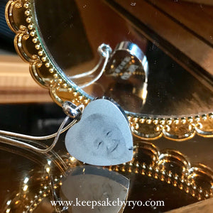 Cremation Memorial Laser Engraved Heart Pendant Necklace (Double Sided Engraving)