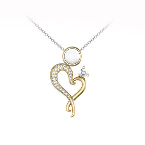 HEIRLOOM MOTHER AND CHILD PENDANT NECKLACE 18K GOLD WITH DIAMONDS