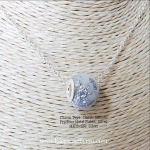 BREASTMILK EUROPEAN CHARM WITH PRECIOUS METAL FLAKES