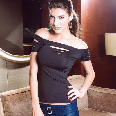 2016 Summer Fashion  Women Sexy Short Sleeve Top T-Shirt Shirt _ 2194