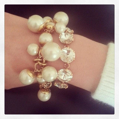 2016 Trending Fashion Big Huge Pearl Women Birthday Gift Party Jewelry Accessories Bracelet _ 1994