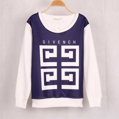 """ Givenchy "" Like Prank Fun Long Sleeve Women Casual Shirt Sweatshirt Top Blouse T-Shirt _ 1837"