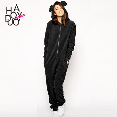 2016 Trending Fashion Casual Cosplay Roleplay Party Costume Cute Bear with Ears Sweatshirt Romper _ 3378