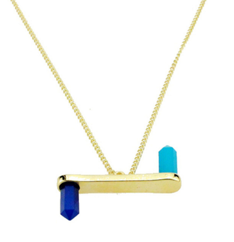 Blue Crystal Stylish Fashion Necklace Jewelry