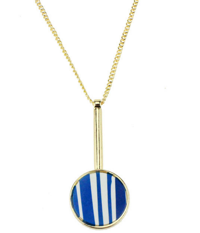Blue Marble Stylish Fashion Necklace Jewelry