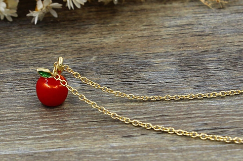 Apple Cute Girly Necklace Jewelry