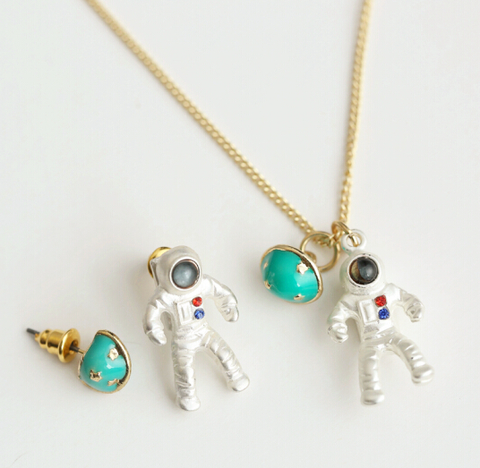 Astronaut Planet Cute Fashion Necklace Jewelry