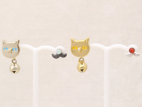 A Set of 5 Customized Cat Cute Fashion Earrings Jewelry