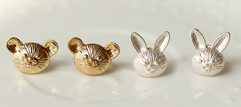 Bear Bunny Cute Fashion Earrings Jewelry
