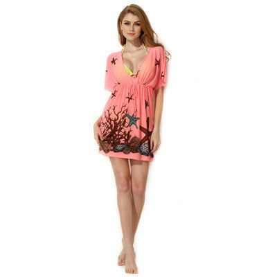 Pink Beach Sexy Erotic Bikini Blouse Outwear _ 1482