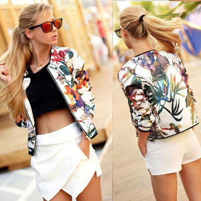 2016 Floral Printed Long Long Sleeve Business Casual Suit Cloak Coat Outerwear Jacket _ 9122