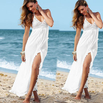 2016 Chiffon Lace Sexy Slim Spagehetti Strap V Neck Erotic Casual Party Playsuit Bodycon Boho Dress  _ 3592