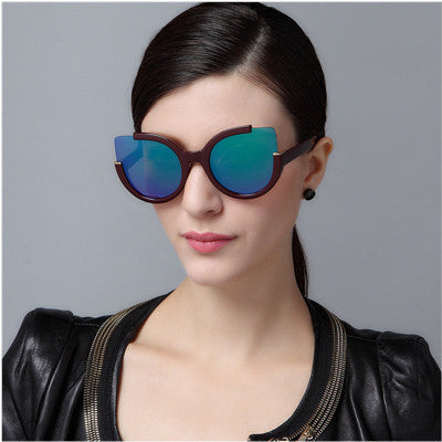 2016 Designer Fashion Retro Vintage Stylish Women Cat Shape Round Sunglasses _ 5822