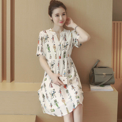 2016 Chiffon Floral Printed V Neck Casual Party Playsuit Clubwear Bodycon Boho Dress _ 5180