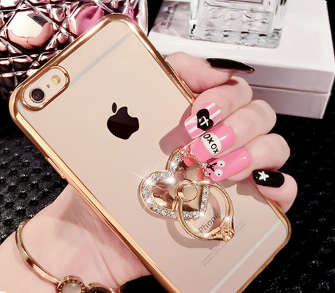 Bling Bling Heart, Hello Kitty, Frangrance Bottle with Ring iPhone Case for iPhone 6/6s/6Plus/6sPlus