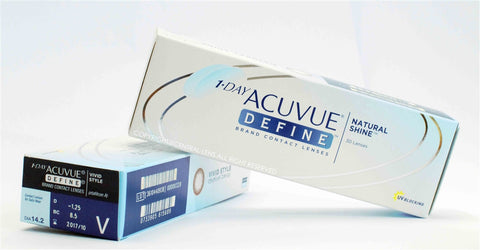 1 DAY ACUVUE DEFINE 30pc (NAUTURAL SPARKLE, NAUTURAL SHIMMER, NAUTURAL SHINE)