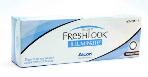 FRESHLOOK ILLUMINATE (JET BLACK, LIGHT BROWN, RICH BROWN)