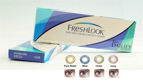 FRESHLOOK ONE DAY COLORS (BLUE, GREEN, HAZEL, VIOLET)