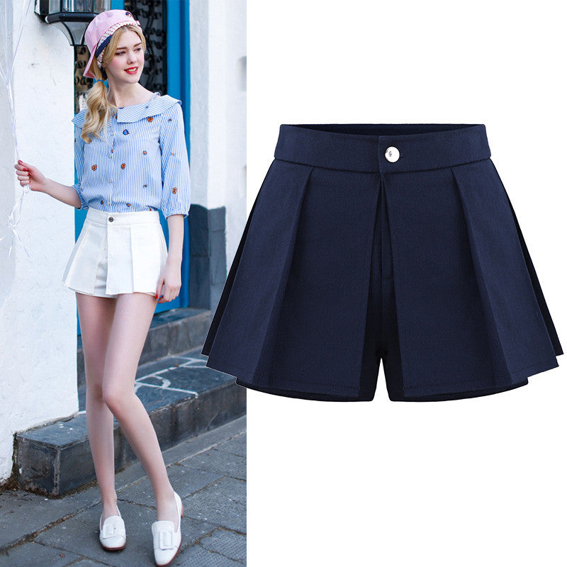 2016 Spring Summer look slim design blue shorts denim women jeans