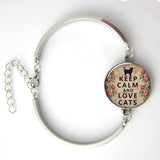 Keep Calm and Love Cats Bracelet - jStorePlus - 1