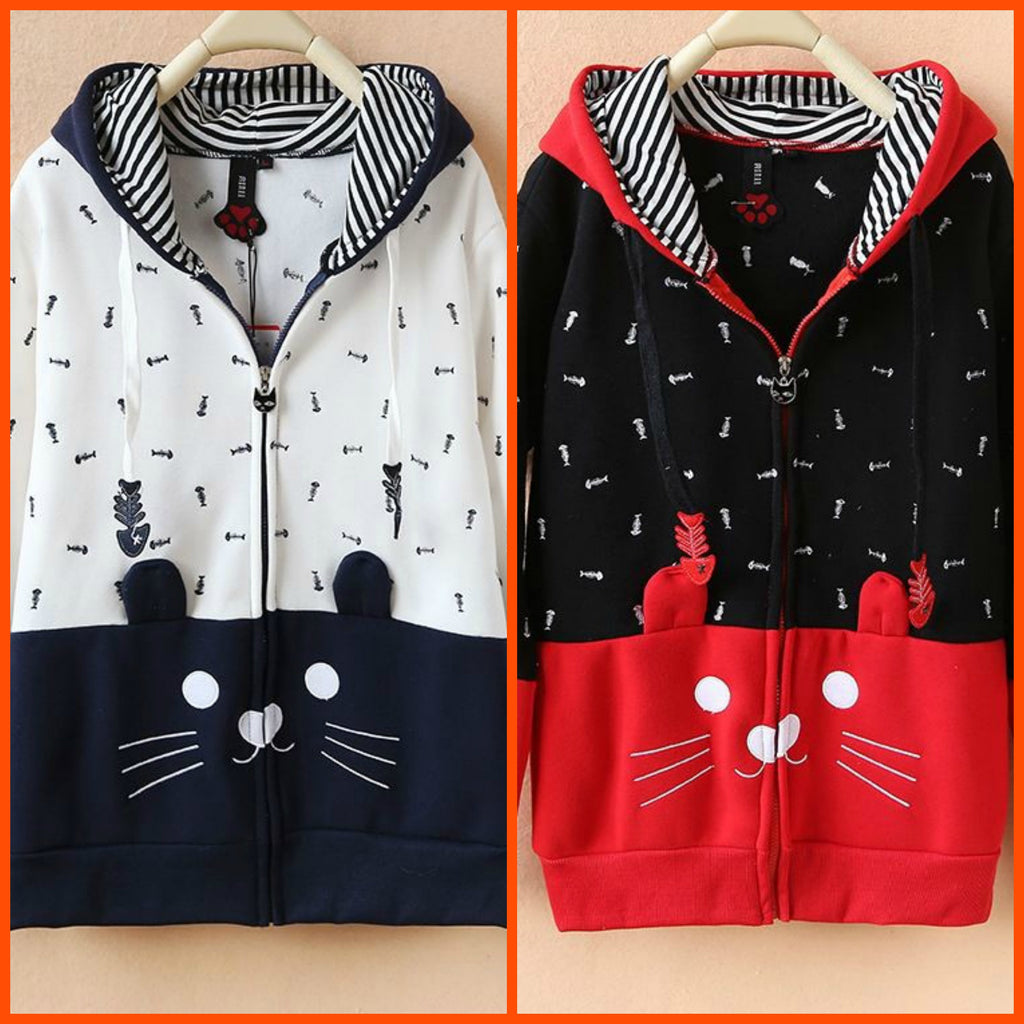 Japanese Style Hoodies for Cat Ladies (j1482071) - jStorePlus - 1