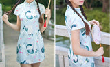 Chinese Sytle Cat Cheongsam (j2159551) - jStorePlus - 1