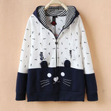 Japanese Style Hoodies for Cat Ladies (j1482071) - jStorePlus - 2