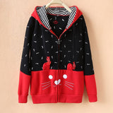Japanese Style Hoodies for Cat Ladies (j1482071) - jStorePlus - 4