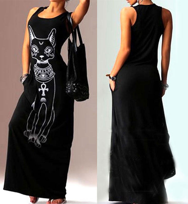 Summer Casual Sleeveless Dress For Cat Ladies - jStorePlus - 2