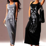 Summer Casual Sleeveless Dress For Cat Ladies - jStorePlus - 1