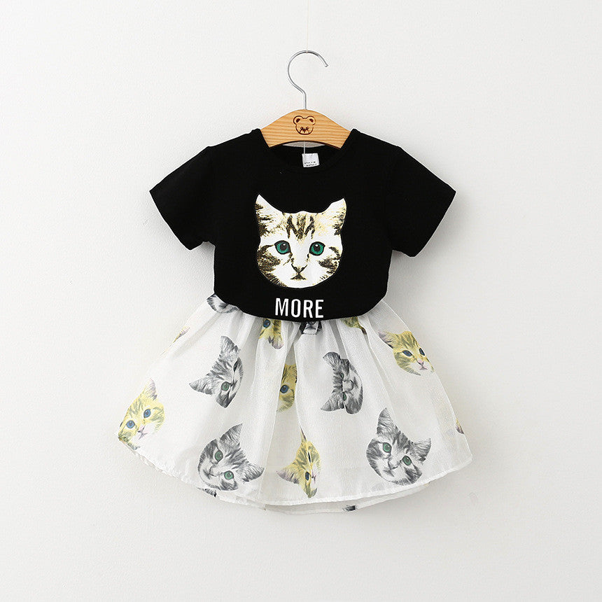 2016 Summer - Cat Shirt with Culottes for Little Cat Lady - jStorePlus - 2