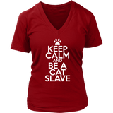 Classic Keep Calm Tee (Be a Cat Slave) - jStorePlus - 10