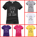 Summer Crazy Cat Lady Tee (j1394603)
