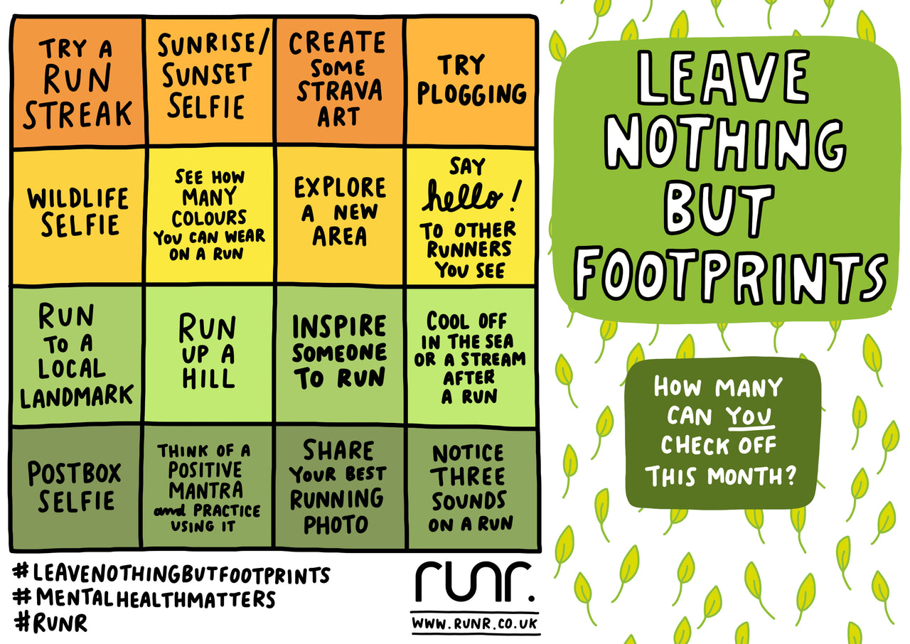 October 'Leave Nothing But Footprints' Bingo Card - Free to Download!