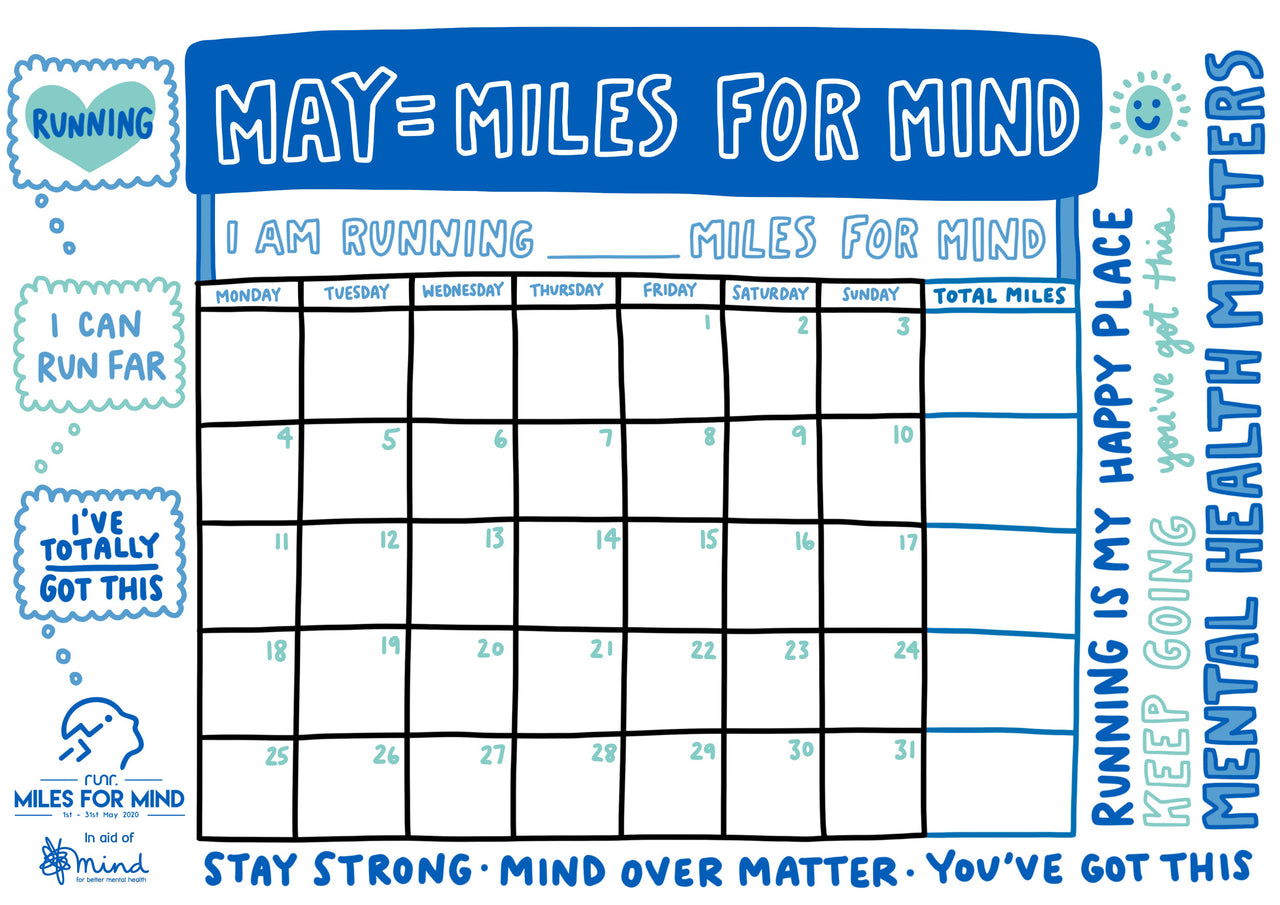 Miles For Mind Calendar - Free to Download!