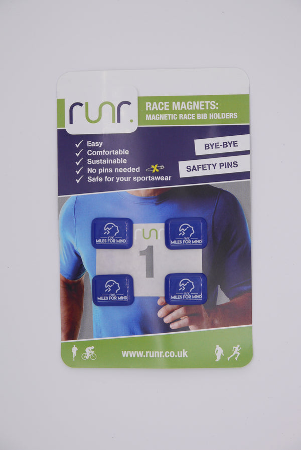 Miles For Mind Race Magnets - navy