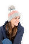 Runr Winter Bobble Hat - Milkshake