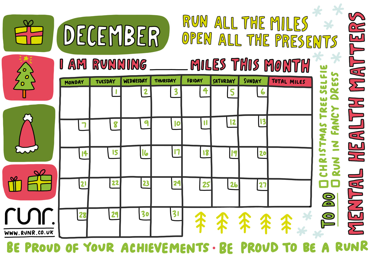 December Mileage Tracker - Free to Download!