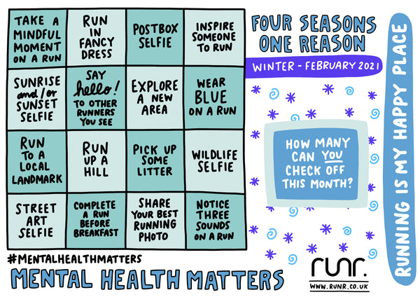 Miles For Mind - Winter Edition - Bingo Card