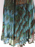 ROBERTO CAVALLI Women Peacock Feather Print Design Halter Wrap Sun Dress Size 38