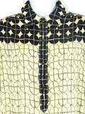 RACHEL ROY Women Navy Beige Pattern Blouse Top Shirt Size 6
