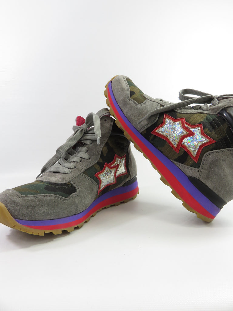 Atlantic Stars Women Grey Red Blue Green Black Camo High