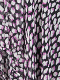 DIANE VON FURSTENBERG Women Black Pink White Print 2 Piece Kaftan Tunic Silk Dress 4