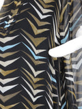 DIANE VON FURSTENBERG Women Black Multicolor Graphic Print Kaftan Tunic Dress  4